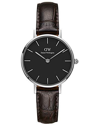 Daniel Wellington Petite York Silver Watch, 28mm, Leather, for Men and Women