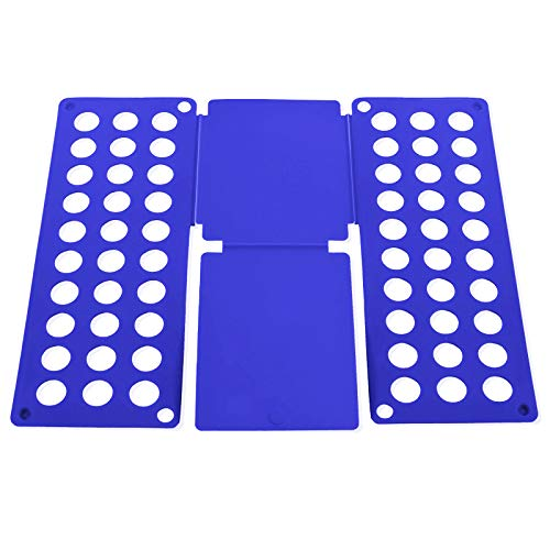 Doblador de Ropa Niño, Plegable Ropa Junta, 40 x 48 CM, Tabla Plegable de Apilamiento Rápido, Azul