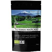 Naturseed Té Matcha Organico Premium en Polvo, 100gr, Bio Ecológico Japones, Para Beber, Latte, Cocinar, Postres, Reposteria, Helado, Galletas, Antioxidante, Adelgazar, Sabor Dulce,Gratis Recetas