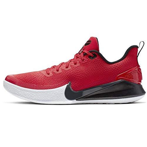 Nike Men's Mamba Focus Phantom/Metallic Gold, University Red/Anthracite/Black, 9.5