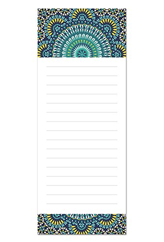 """6 Magnetic Notepads - Global Design Series - 6 Different Designs on 3.5"""" x 9"""" Pads"""