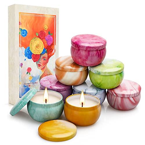 Velas Perfumadas Juego de 8 Piezas, Velas Aromaticas Decorativas, Cera de Soja...