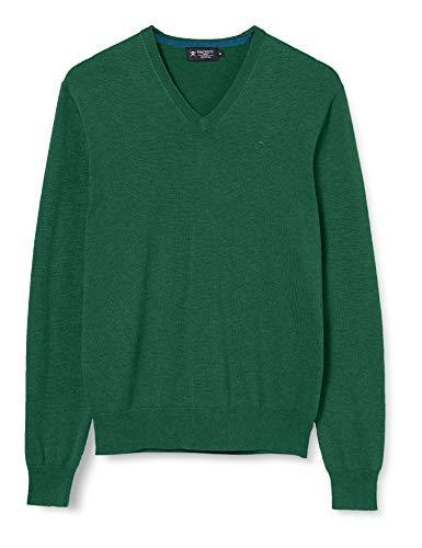 Hackett London Cotton Silk V Neck Suéter, Verde (612fresh Green 612), XX-Large para Hombre