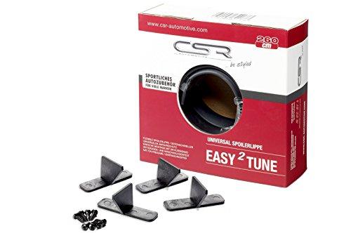 CSR-Automotive Easy²Tune Universal Spoilerlippe zum ankleben mit Halter-Set 12-TLG. PS029