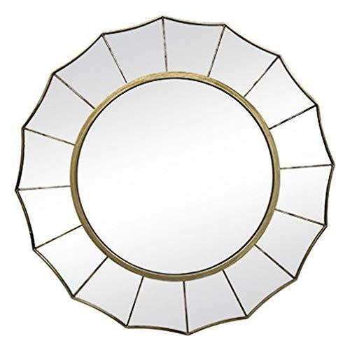 Melody Maison Grande argento Sunburst Art Deco specchio da parete