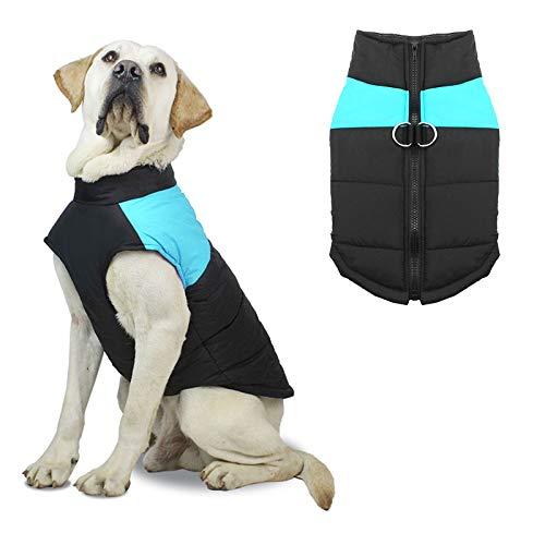 Crzmtph Hundemantel Jacke für Wärme wasserdichte, Kleine mittlere große Haustier Hund Katze Bekleidung Weste für Herbst Winter