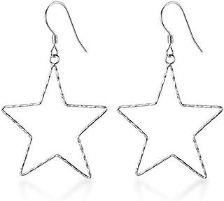 Deep blue earrings Hypoallergenic dangling earrings Teeny-tiny all titanium drop earrings
