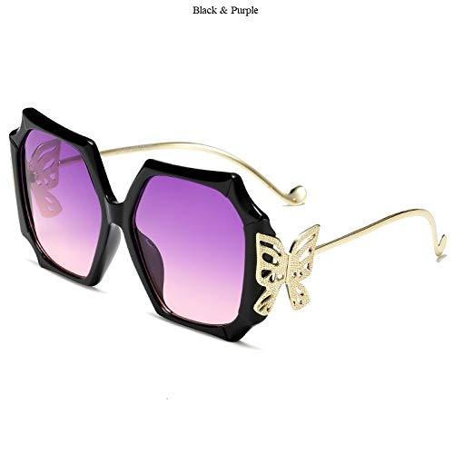 Sonnenbrille,Mode Retro Polarisierte Übergroße Quadratische Schmetterling Lila Linse Designer Rahmen Uv400 Schutzbrille Für Sport Fahren Angeln Mountainbiken Golf Brille