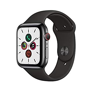 Apple Watch Series 5 (GPS + Cellular, 44 mm) Edelstahlgehäuse Space Schwarz - Sportarmband Schwarz (B07XS9BFVB) | Amazon price tracker / tracking, Amazon price history charts, Amazon price watches, Amazon price drop alerts