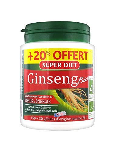 Super Diet Ginseng Panax CA Meyer Bio 150 Gélules + 30 Gélules Offertes