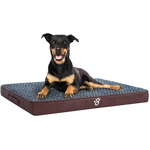 OQQ Orthopedic Dog Bed for Small | Medium | Large | Jumbo Dogs, Memory Foam Pet Bed Mattress with Removable Washable Cover, 2-Layer Pet Mat with Waterproof Lining Dog Bed