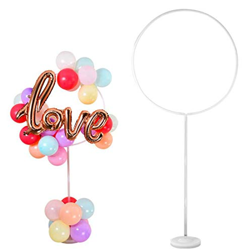 Wisolt Ballon Stand Kit, Circle Ring Arch Stand Balloon Garlands Decorating Strip Tape Set for Birthday Wedding Baby Shower Party Decorations