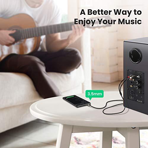 UGREEN Câble RCA Jack Audio Stéréo Cordon Jack 3.5mm vers 2 RCA Mâle Compatible avec TV PC Smartphone Ampli Chaîne HiFi Barre de Son Home Cinéma Autoradio Enceinte (2 M)