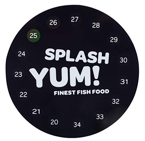 SplashYum! Termómetro Digital para acuarios, Redondo, Autoadhesivo, Directamente sobre Vidrio con una Pantalla de Temperatura precisa (Solo)