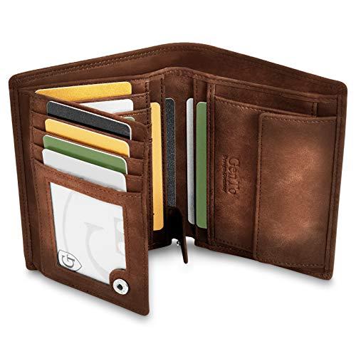 GenTo® Dublin Geldbörse mit Münzfach - TÜV geprüfter RFID, NFC Schutz - geräumiges Portemonnaie - Geldbeutel für Herren und Damen - Portmonaise inkl. Geschenkbox