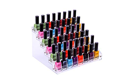 JANSBURG Nail Polish Organizer 6 Layer Ink Rack Holder Table Stand Acrylic Polish Holder Clear Paint Bottles Holder Essential Oil Storage Display Stand on The Table or Desk