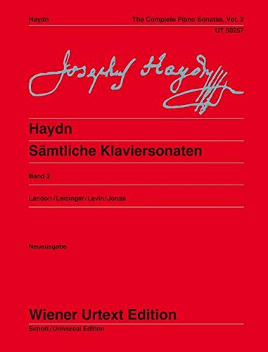 Sämtliche Klaviersonaten: Sonaten Hob. XVI:18-20, XVI:33, XVI:43-47, XVI:5a. Ed. Landon/Leisinger/Levin. Vol. 2. Klavier. (Wiener Urtext Edition)