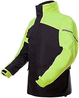 Qivor Waterproof clothing New Raincoat Rain Pants Suit, Adult Split Reflective Waterproof Raincoat (gray/Green) Men's snow...