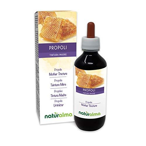 PROPOLIS (Propolis) Harz Alkoholfreier Urtinktur NATURALMA | Flüssig-Extrakt Tropfen 200 ml | Nahrungsergänzungsmittel