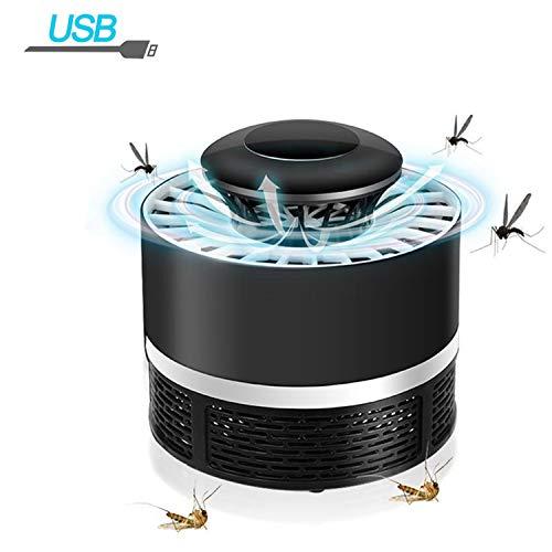 USB Lámpara de Mata Mosquitos Moscas Electrico Fotocatalizador, 360° LED Insectos Trampa Lámparade,Sin Productos Químicos y Radiación, Mute portátil a prueba de agua