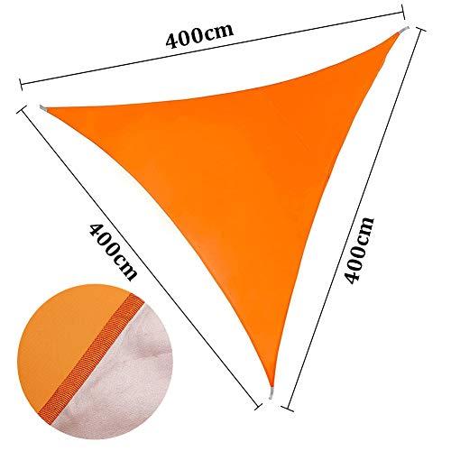 ENCOFT Voiles d'Ombrage Triangulaire Imperméable, Toile Solaire en Oxford Une Protection des Rayons UV, Voile Pare-Soleil Exterieur Jardin Terrasse, 4x4x4m Orange