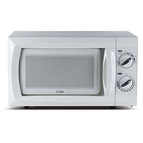 Commercial Chef CHM660W Countertop Small Microwave Oven, 0.6 Cubic Feet, White