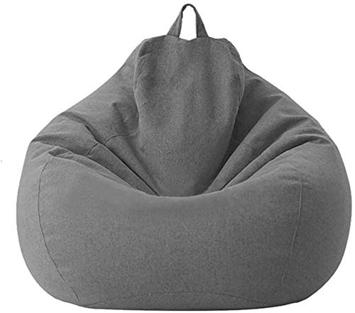 WERT Bean Bag Sofa Chairs, Lazy Lounger Bean Bag Storage Chair for Adults and Kids, Washable Memory Foam Furniture Bean Bag, Classic Lazy Lounger Bean Bag Storage Chair for Adults and Kids