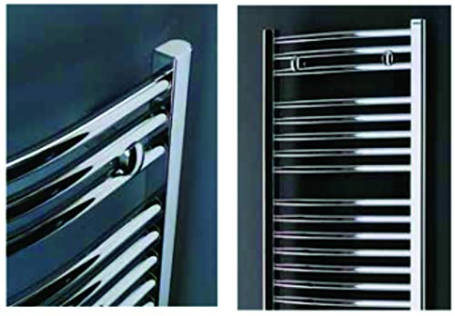 Starline Chrome Towel Warmer Hydronic Curved 20x28in Europe Design Radiant