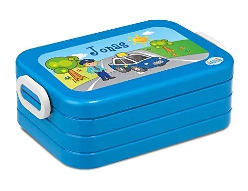 Mein Zwergenland Boîte de Déjeûner Mepal Maxi Take A Break Midi Boîte à Sandwich avec Propre Nom Turquoise - Rose