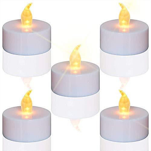 TEECOO24 unidades LED Velas Velas CR2032 pilas velas sin llama,LED Velas,LED Velas de té,Velas LED Sin Llama con Baterías para Navidad,Restaurante,Cumpleaños,Bar, Decoración
