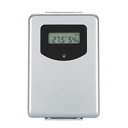 Aramox Wireless Wetterstation/Wetterüberwachung Uhren/Digital Thermometer Hygrometer Indoor/Outdoor / ℃ / ℉ / Wettervorhersage/Wecker Snooze/DST/Datenspeicher/Deutsch unterstützt