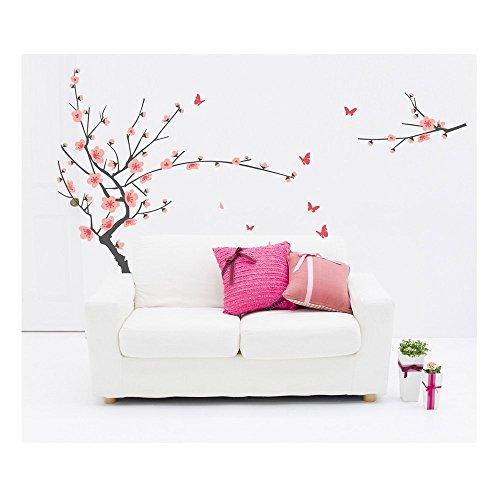 Graciosamente con la mejor calidad autoadhesivas pegatinas de pared de DIY/pared/pegatinas/pared de vinilo con Rosa japonesa próspera cerezas árbol/cerezo diseños de VAGA