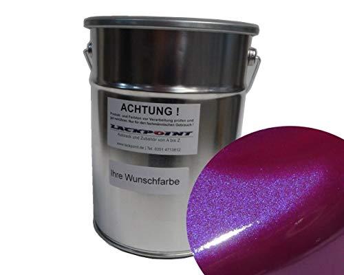 Lackpoint 0,5 Liter Spritzfertigen Basislack Candy Violett Metallic Autolack Trendlack neu