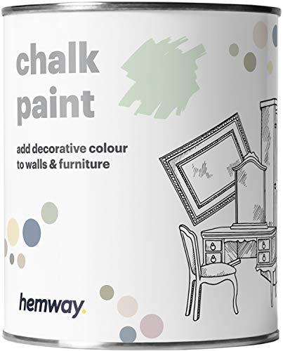 Hemway Pintura de tiza azul aguamarina con acabado mate para pared y muebles, 1 litro, estilo Shabby Chic Vintage Chalky (50 colores más disponibles)