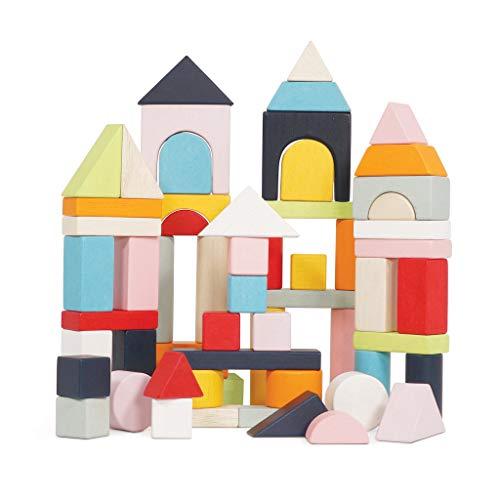 Le Toy Van - Pädagogische Holzbausteine 60-teiliges Set Spielzeug | Montessori-Stil Form & Farbe Entwicklung Spielzeug - Geeignet ab 12 Monaten