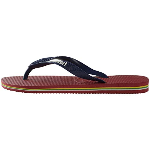 Havaianas Brasil Logo Chanclas Unisex Adulto, Multicolor (Red), 41/42 EU