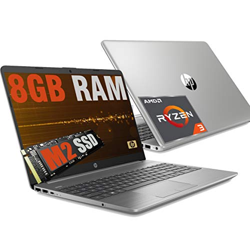 HP 255 G8 Silver Slim Portátil Full HD 15.6' CPU AMD Ryzen 3 3250U hasta 3,5 GHz / RAM 8 GB DDR4 / SSD M2 Nvme 256 GB / Radeon / HDMI RJ-45 Wifi Bluetooth USB Type-C /Windows 10 Pro 64 bits.