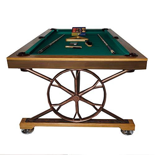 WXXW Mini Billardtisch Pool Table aus Holz, Indoor and Outdoor Tisch Spiel Set für Kinder, Durable Spiel Viel SpaßGeburtstag Urlaub Geschenke 213x122x81cm