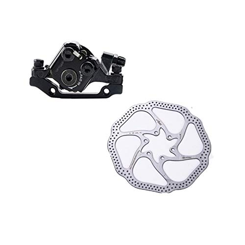 LuckyMAO Bicycle Brakes BR-M375 TX805 Mechanical Disc Brake Calipers for Acera Alivio Deore with Resin Pads M375 Caliper w/n G3 HS1 Rotor TX805 (Color : Front with HS1 160mm)