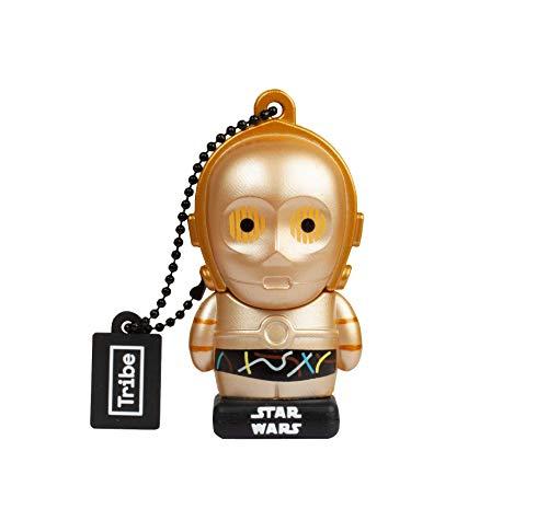 Llave USB 32 GB C-3PO - Memoria Flash Drive 2.0 Original Star Wars, Tribe FD007706N