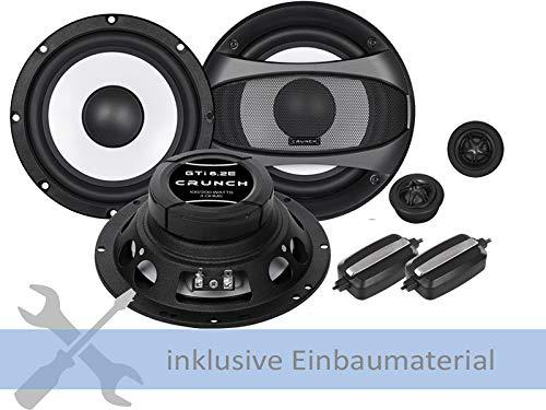 Crunch Lautsprecher GTi6.2E 400W 165mm passend für 2 Wege Kompo Toyota Avalon 2005-2014 Türen vorne