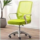TAIDENG Silla de oficina para ordenador de oficina, silla de oficina, ergonómica, ajustable y giratoria de tela de malla (color: verde)