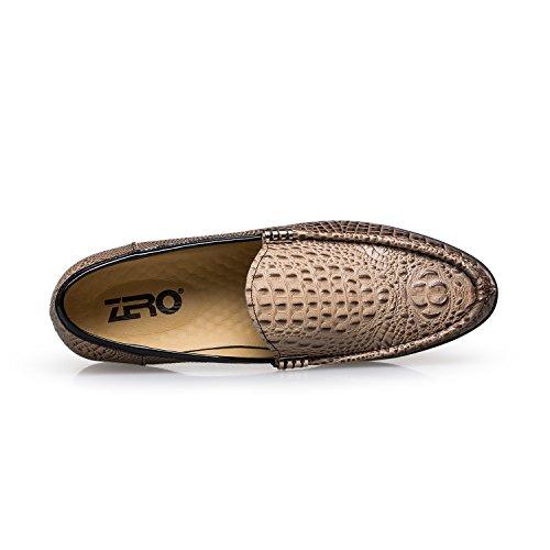 ZRO Men's F5220 Fashion Dress Footwear with Animal-print (6, brown)