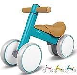 XJD Bicicleta sin Pedales para Bebé de 1 año Bicicleta Equilibrio Bebé para Aprender a Caminar Regalo de Primera Bicicleta para niños Ninas de 10-36 Meses (Azul#2)
