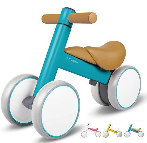 XJD Laufrad Lauflernrad ohne Pedale mit 3 Räder Ultraleicht & Erstes Balance Fahrrad Spielzeug Dreirad für Baby 10-36 Monate(Himmelblau)