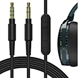 Geekria QuickFit Audio Cable with Mic Compatible with Skullcandy Crusher Evo, Crusher ANC, Hesh 3, Hesh2, Venue Cable, 3.5mm Aux Replacement Stereo Cord with Inline Microphone (5.6ft / 1.7m)