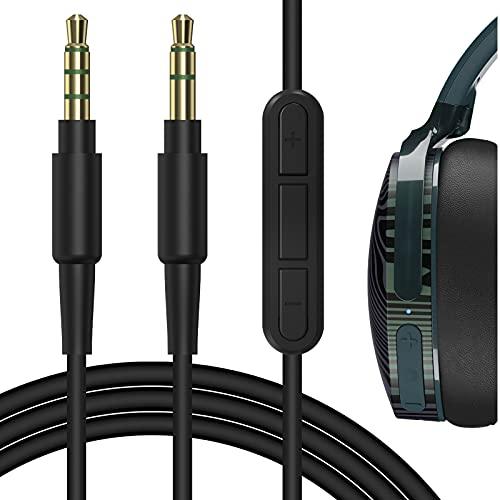 Geekria QuickFit Ersatz Kabel mit Mikrofon für Skullcandy Hesh, Hesh 2, Crusher, Mahlen Kopfhörer/Audio Kabel mit Lautstärkeregler und Mikrofon