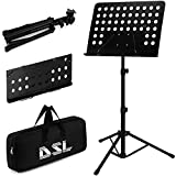 DSL Heavy Duty Orchestral Music Stand Folding Adjustable Sheet Music Stand Holder Adjustable