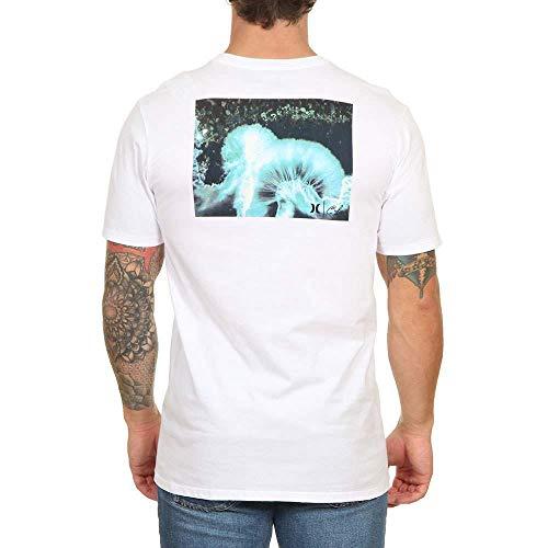 Hurley Clark kleine drone T-shirt wit