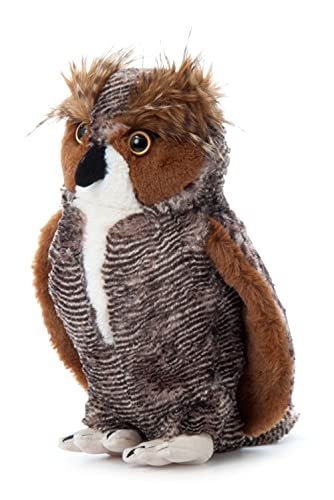 The Petting Zoo Horned Owl Stuffed Animal  Gifts for Kids  Wild Onez Zoo Animals  Horned Owl Plush Toy Sitting 12 inches